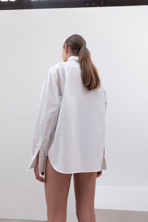 COTTON OVERFIT SHIRT WHITE