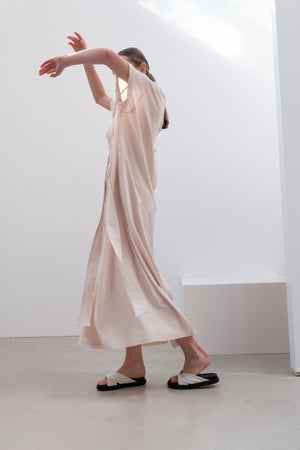 REVERSIBLE MAXI DRESS CREAM