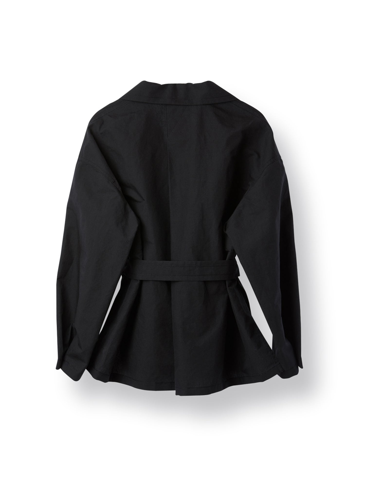 LINEN PLEATS JACKET BLACK