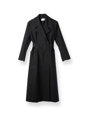 LINEN DOUBLE COAT BLACK