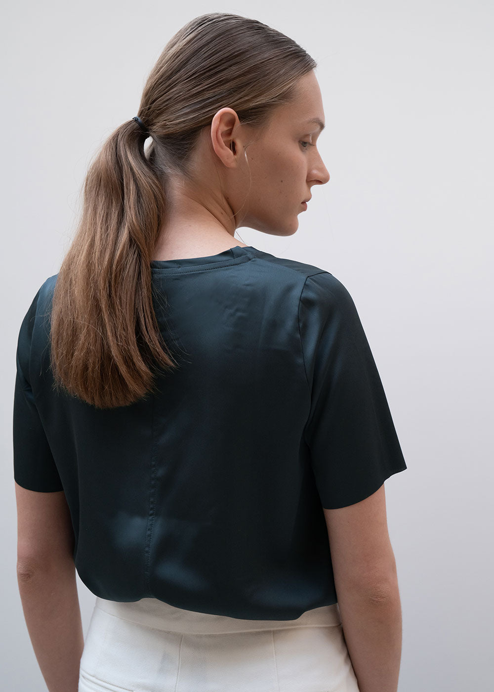 SATIN T-SHIRT GREEN