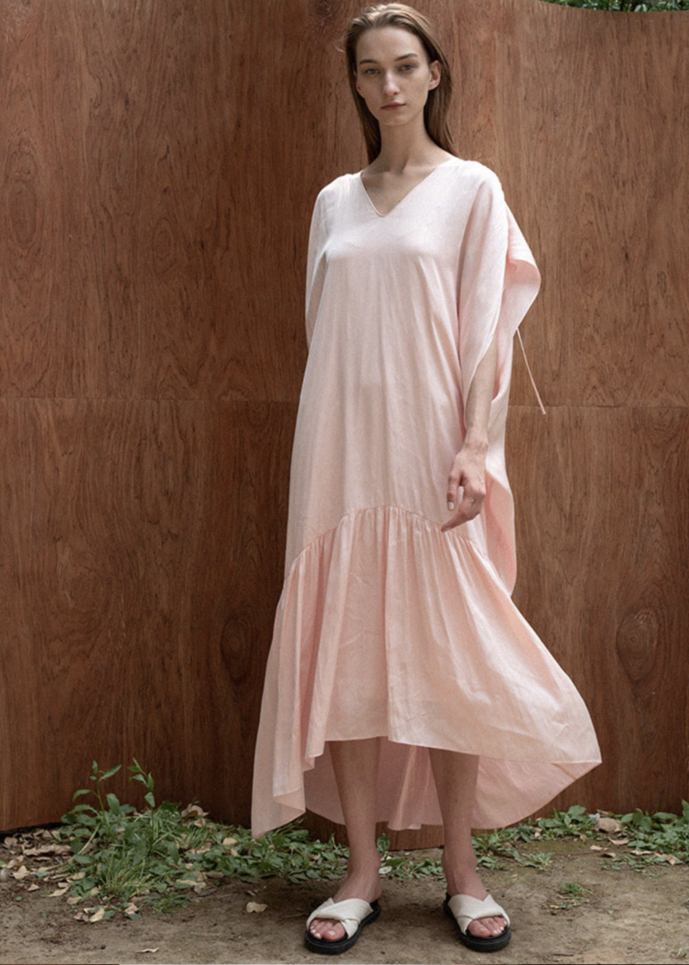 SATIN SLIP SET DRESS PINK