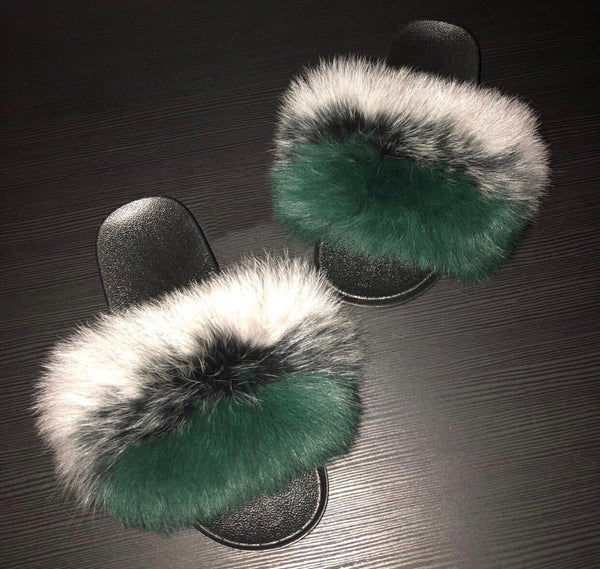 73592228577 MULTICOLORED FUR SLIDES – Forever On Fleek