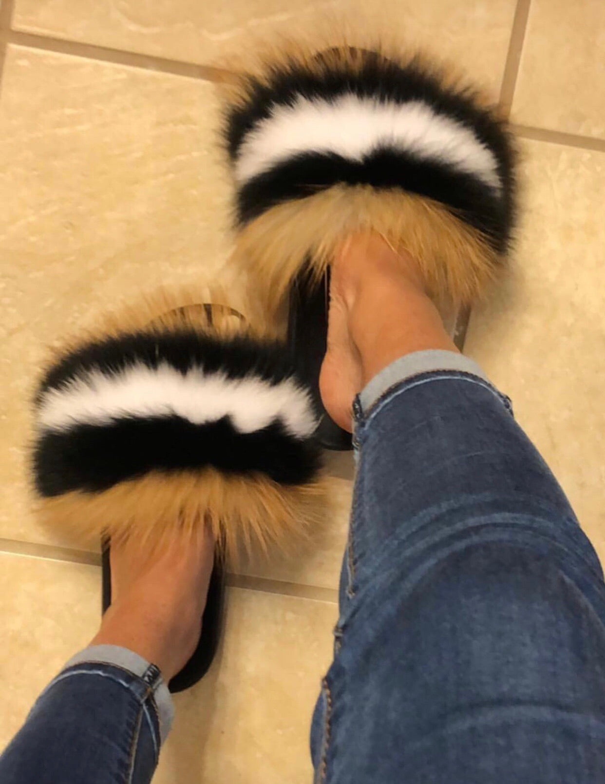 1d21a745eb9 Raccoon Fur Slides – Forever On Fleek