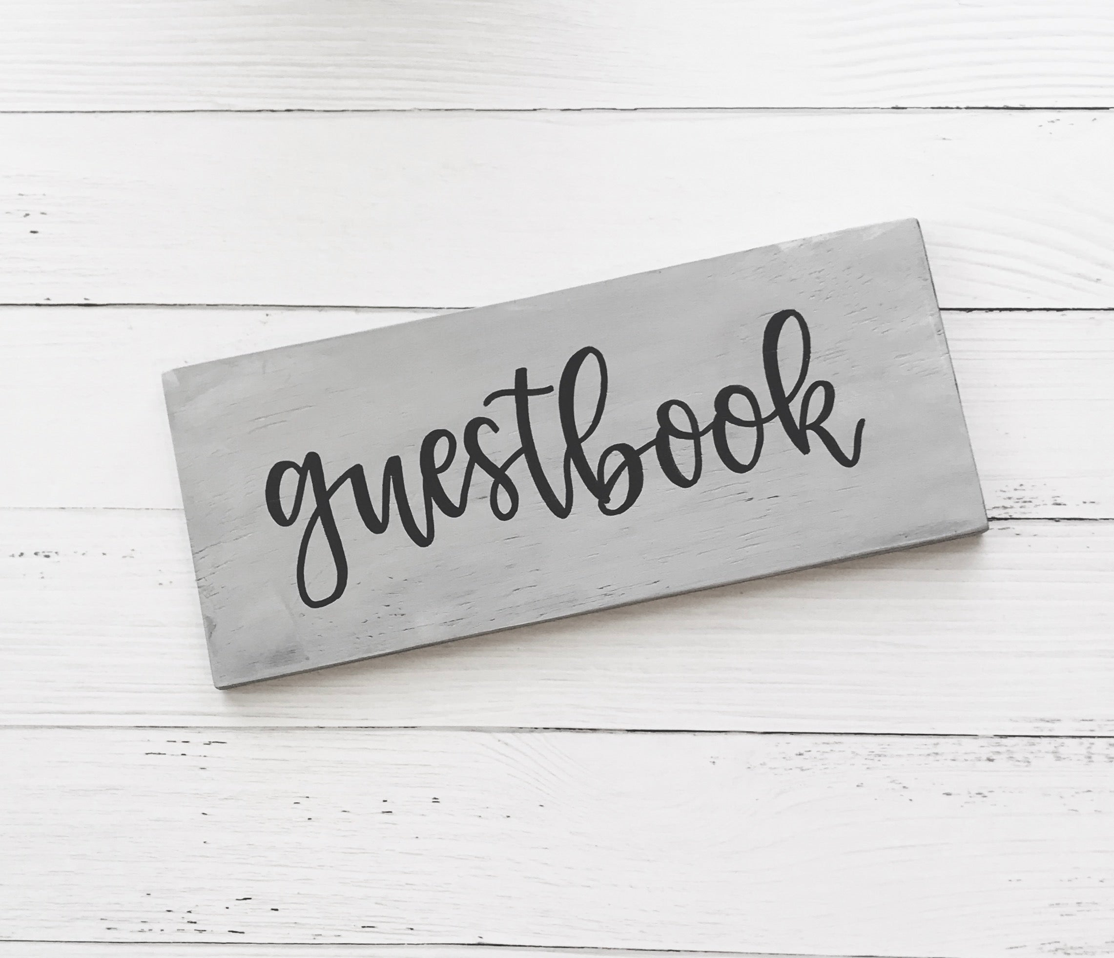 Whitewash Guestbook Sign