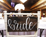 Load image into Gallery viewer, Bride/Groom Chair Hangers