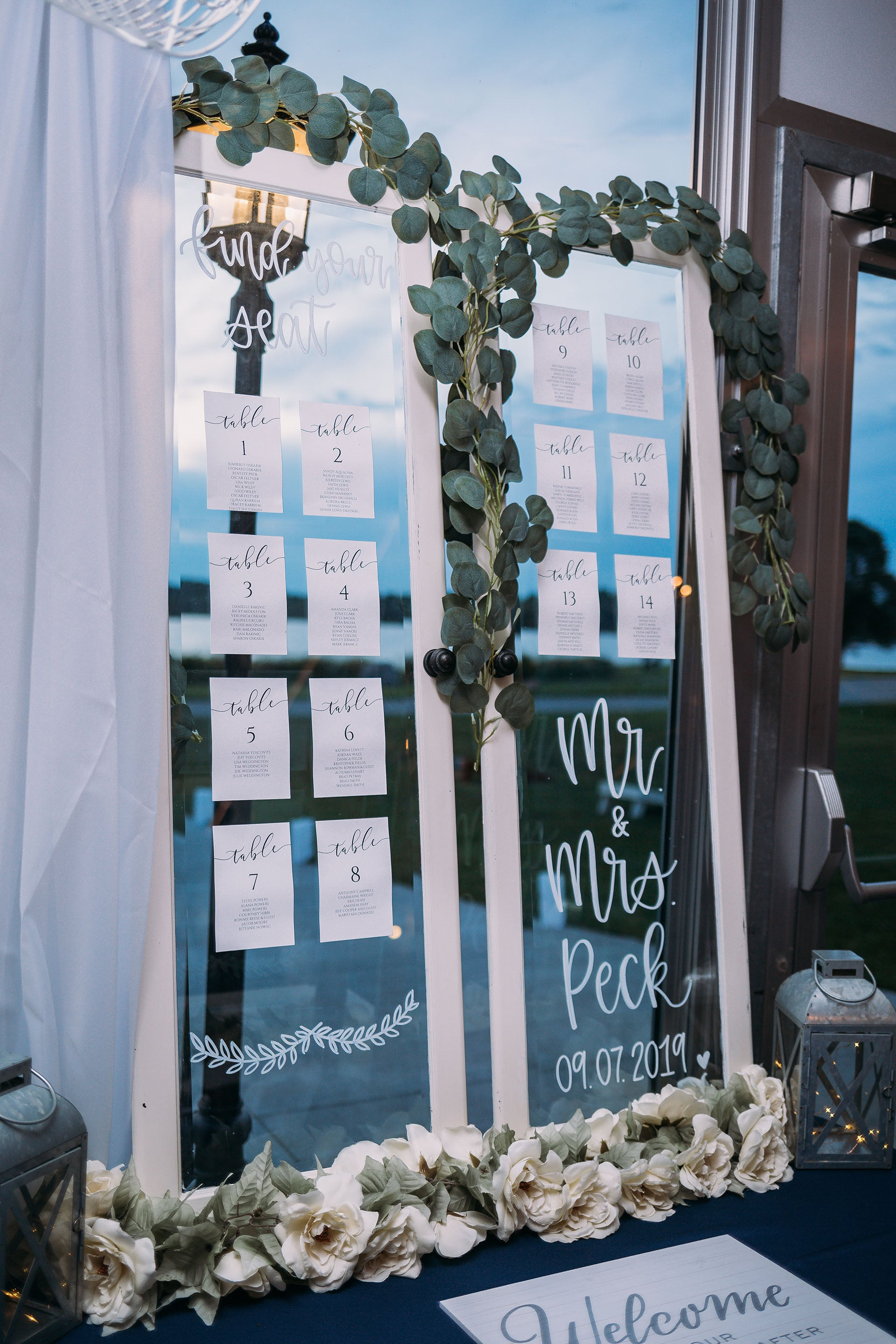 Glass Door Seating Chart