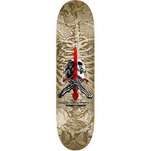 "Powell Peralta - Skull & Sword 9.0"" Deck (White/Grey)"