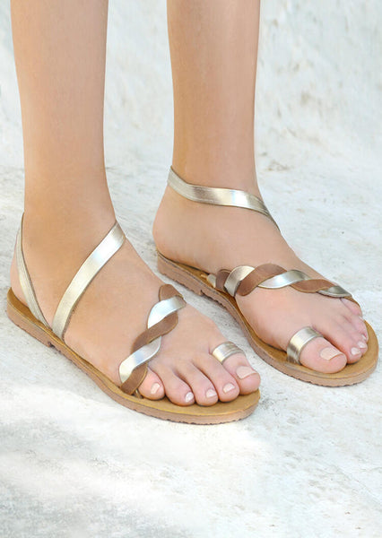 Solid Braid Flat Sandals
