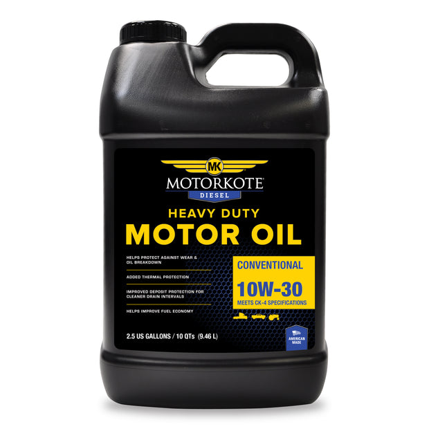 2.5 Gallon/ 10 Qt MK 10W-30 Diesel Motor Oil, Engine, - MotorKote.com