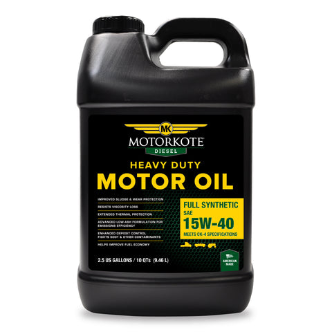 2.5 Gallon/ 10 Qt MK 15W-40 Full Synthetic Diesel Motor Oil, Engine, - MotorKote.com