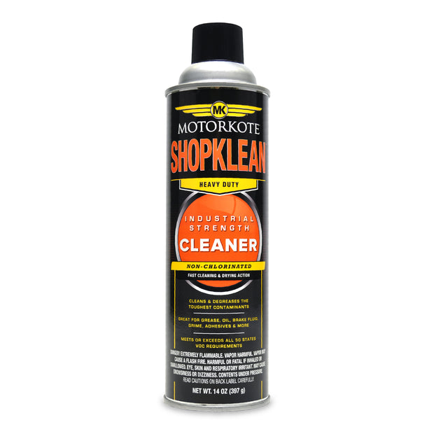 MotorKote ShopKlean Industrial Strength Cleaner 14 oz., Spray Lubricant, - MotorKote.com