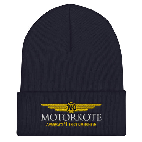 Cuffed Embroidered MotorKote Beanie 3PL, , - MotorKote.com