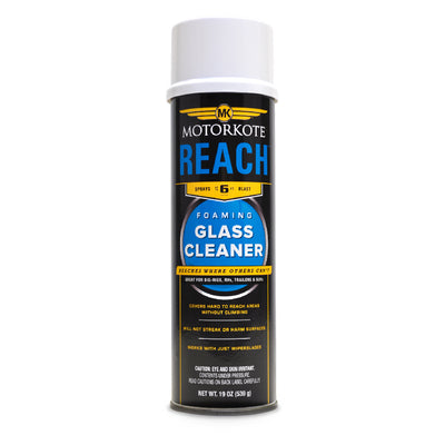 19 oz. MotorKote Reach Power Blast Foaming Glass Cleaner, Spray Lubricant, - MotorKote.com