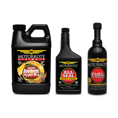 (1) 64 OZ. Motorkote Ultimate (SYNTHETIC HYPER MIX 5W-30 Motor Oil), (1) 8 oz.All Seal, (1) 16 oz. Fuel Optimizer, , - MotorKote.com