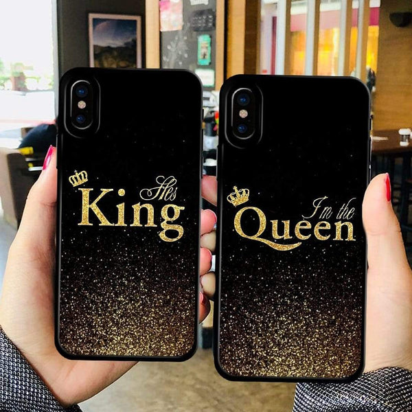 aa1adb43f3 ... Discoverer One King-iPod Touch 4 / Black For iPhone XS King Queen Case  Couple