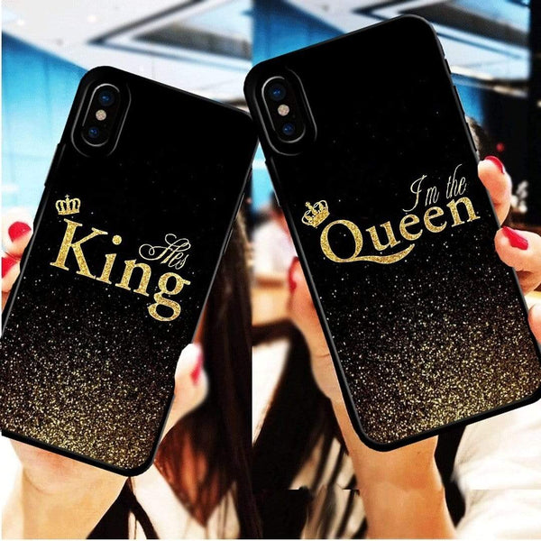 d869872842 ... Discoverer One King-iPod Touch 4 / Black For iPhone XS King Queen Case  Couple ...