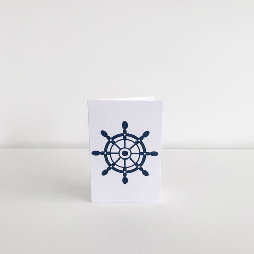 Mini Greeting Card - Ship Wheel