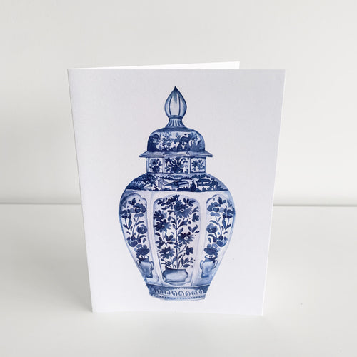 Standard Greeting Card - Blue Ginger Jar Homewares nz