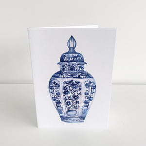 Standard Greeting Card - Blue Temple Jar Homewares nz