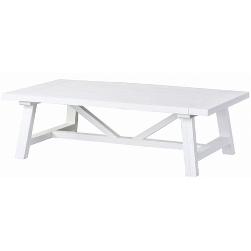 Newport Trestle Coffee Table - White  Furniture nz