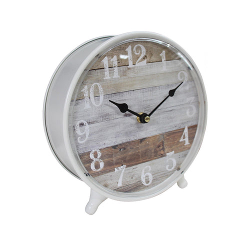 Weathered Table Clock 23cm Homewares nz