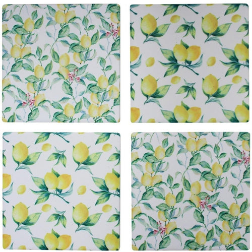 Set Of 4 Lemon Coasters