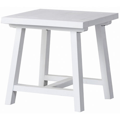 Newport Trestle Side Table - White Furniture nz