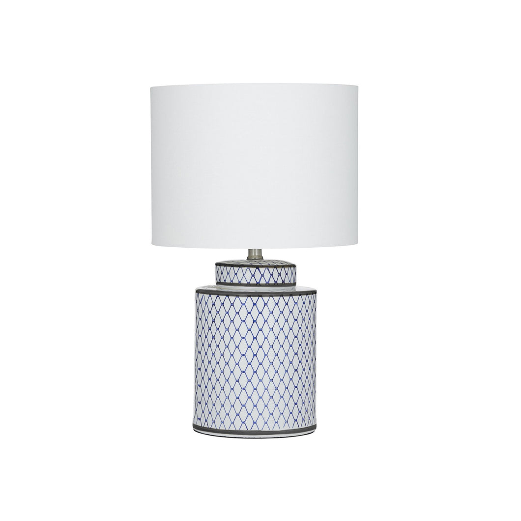 Leila Table Lamp 33cm - Blue & White