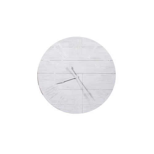 Timber White Washed Clock 92cm Homewares nz