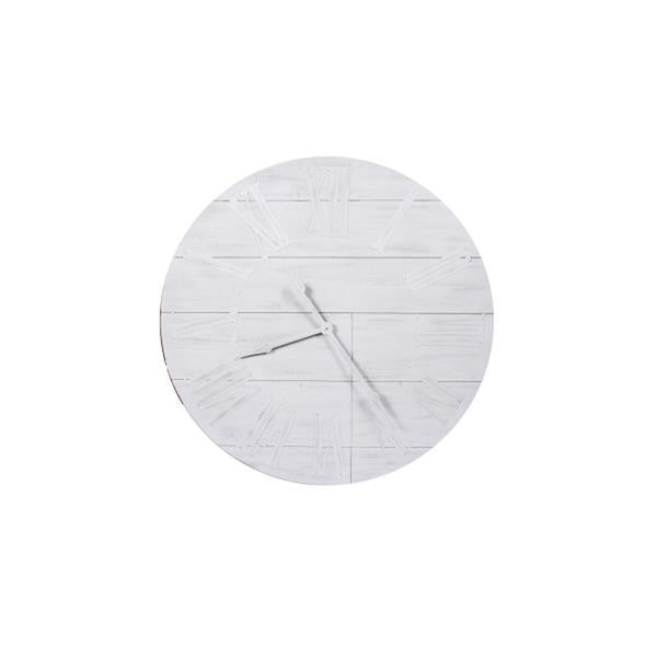Timber White Washed Clock  Homewares nz