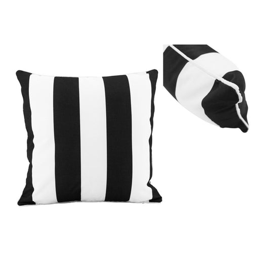 Black & White Stripe Outdoor Cushion 50x50cm Homewares nz