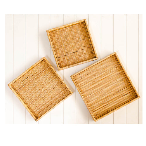 Natural Piper Square Tray 40cm Homewares nz