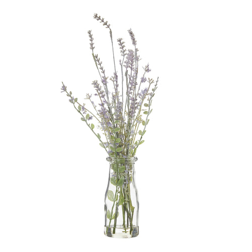 Lavender Bundle In Milk Bottle 39cm  Homewares nz