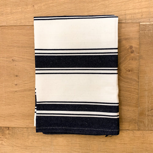 Caribbean Cotton Tea Towel 50x70cm - Navy & White