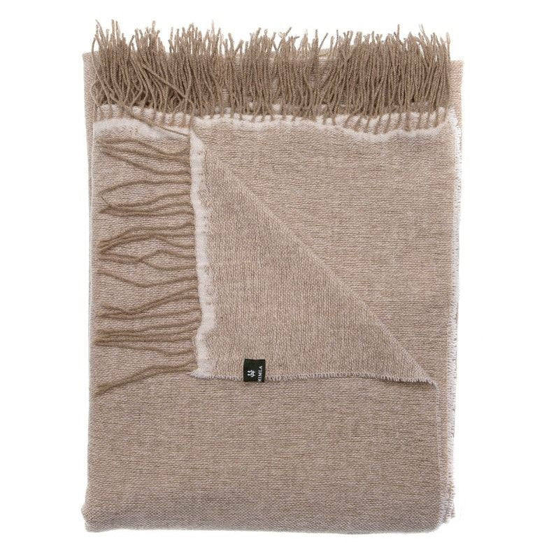 Victor Light Wool Throw 'Natural' - Beige Homewares nz