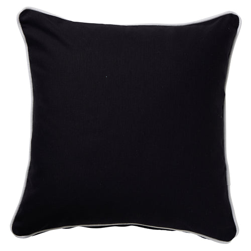 Black Euro Cushion With White Piping 60x60cm