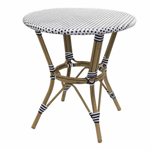 Hamptons Rattan Dining Table - Blue & White  Furniture nz