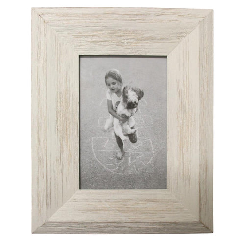 Coastal White Wash Frame 4