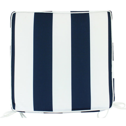 Navy & White Stripe Outdoor Chair Pad 42x42cm Homewares nz