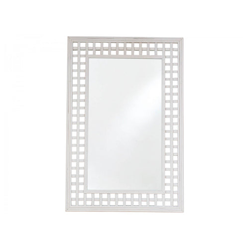 Bamboo Mirror Rectangle 92cm - White  Homewares nz
