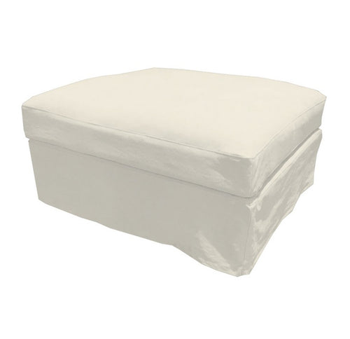 Newport Ottoman - Off-White (With Slip Cover)