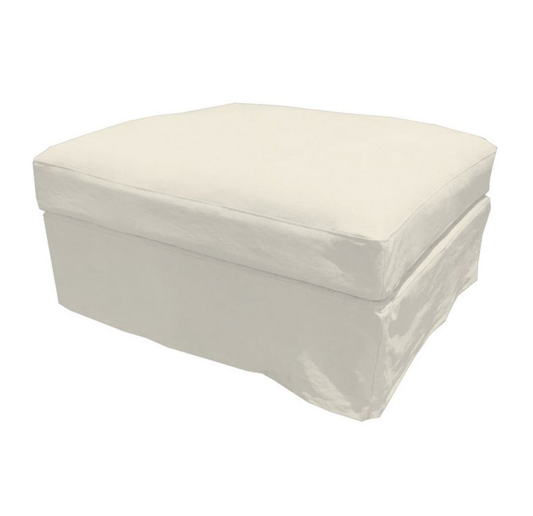Newport Ottoman - Off-White (With Slip Cover) Furniture nz