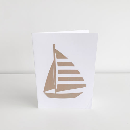 Standard Greeting Card - Gold Yacht Homewares nz