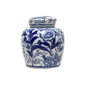 Botanic Flat Lid Ginger Jar 13cm Homewares nz