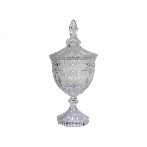 Ornate Glass Jar 11.5cm