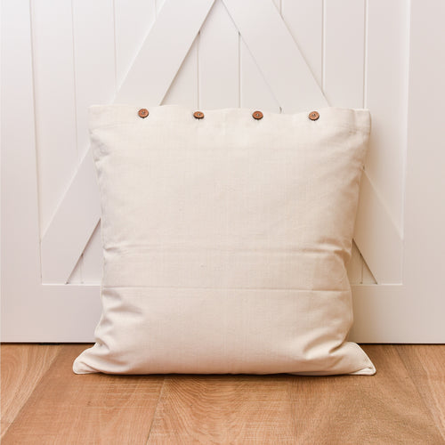 Canvas Euro Cushion 60x60cm - Natural  Homewares nz