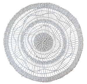 Round White Woven Placemat  Homewares nz