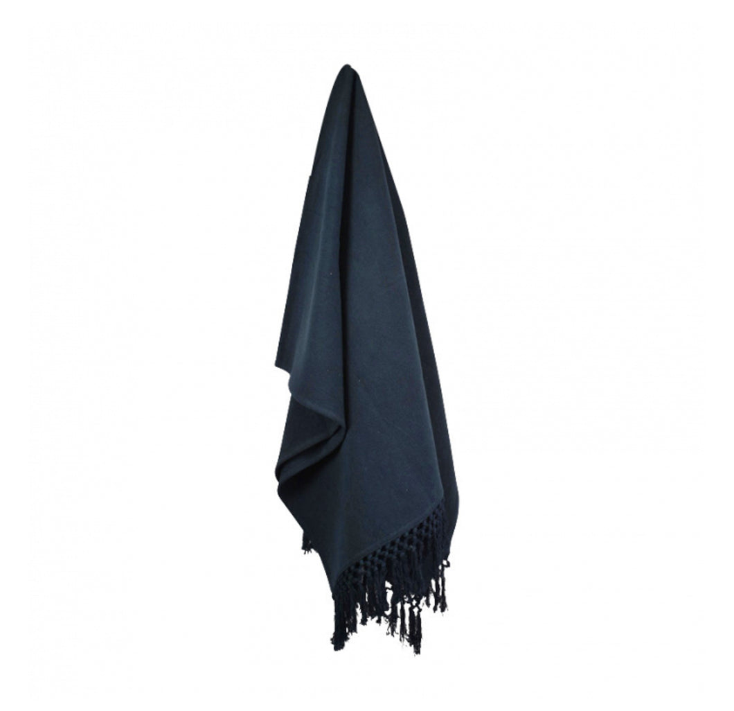 Sade Throw - Navy  Homewares nz