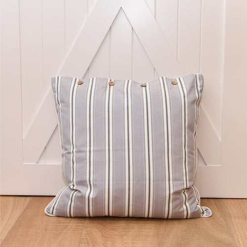 Bahamas Euro Cushion 60x60cm - Grey  Homewares nz